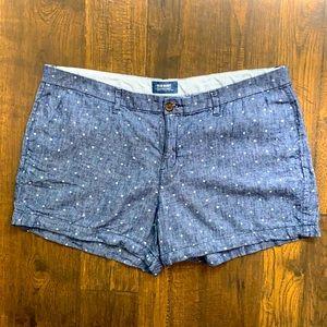 Old Navy Polka Dot Denim Shorts, Size 16